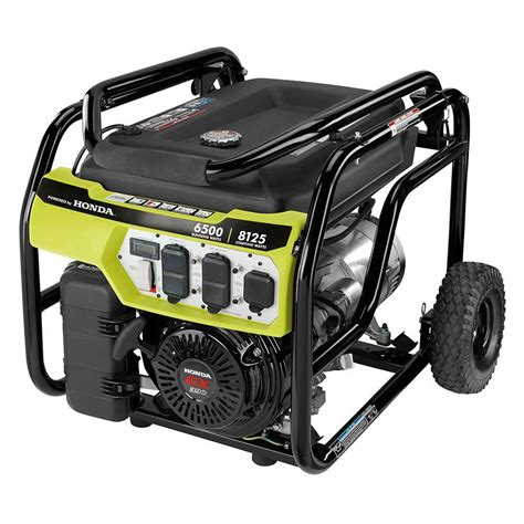 ryobi 6 500 watt gasoline powered portable generator with