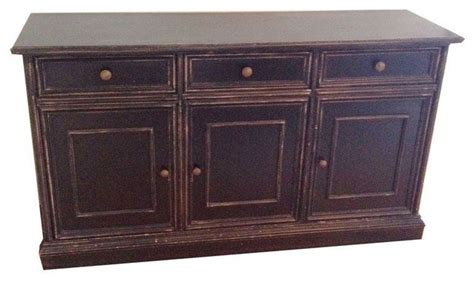 Used Sideboards And Buffets Used Ballard Designs Black Sideboard Transitional