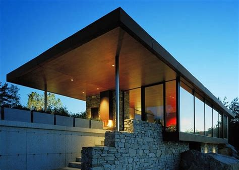 stone and glass house designs stone and glass house with a great view in norway