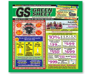 green sheet white sheet find  rack location