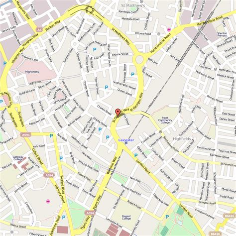 map of city centre city centre map leicester leicester