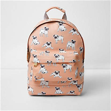 mi pac mini pug print backpack bags and purses river island