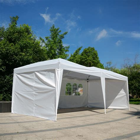 pop up boat canopy new 10 x 20 outdoor easy pop up folding canopy gazebo