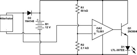 lamp alternator charging light electrical engineering