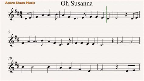 susanna testo oh susanna violin sheet