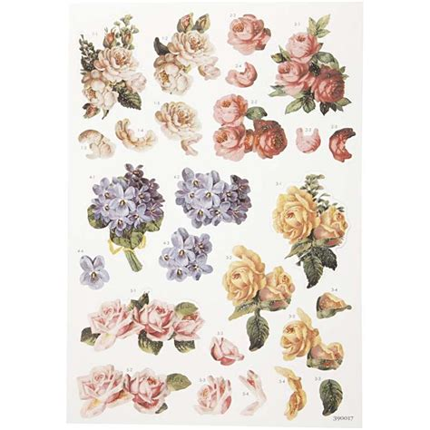 Printable Decoupage Sheets - free decoupage sheets 3d decoupage tags 21x30 cm roses