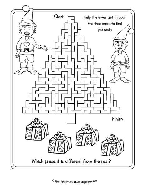 Christmas Activity Sheets Printables Az Coloring Pages