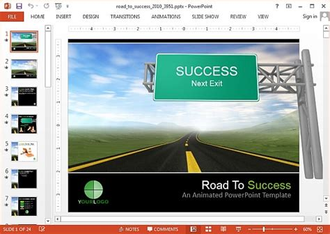 Interactive Roadmap Powerpoint Templates Success Powerpoint Templates Free
