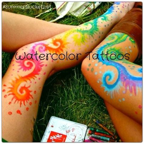 watercolor crayon tattoos 25 best ideas about summer lists on
