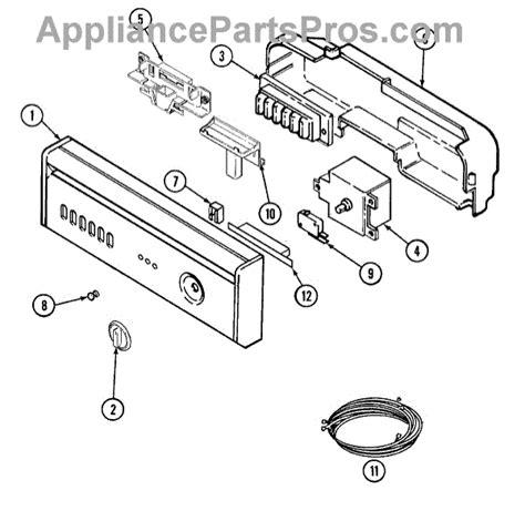 jenn air dishwasher parts diagram parts for jenn air jdb4950awp panel parts