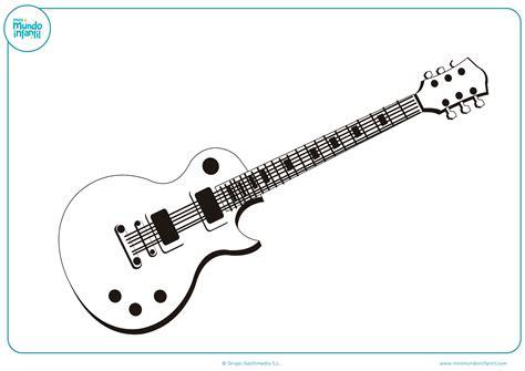 imagenes de guitarras rockeras para colorear dibujos art 237 sticos para colorear mundo primaria
