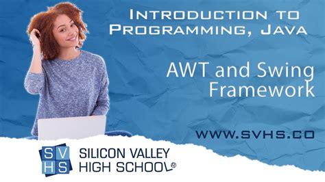 java swing framework awt and swing framework intro to programming java