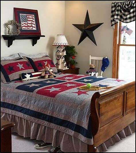 Americana Bedroom | decorating theme bedrooms maries manor primitive