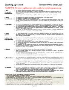 executive coaching agreement template coaching agreement contract template sle coaching