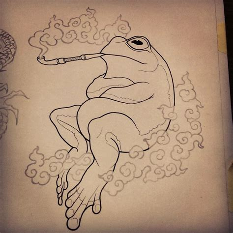 japanese smoke tattoo designs hey handsome do you remember pic with this frog i found