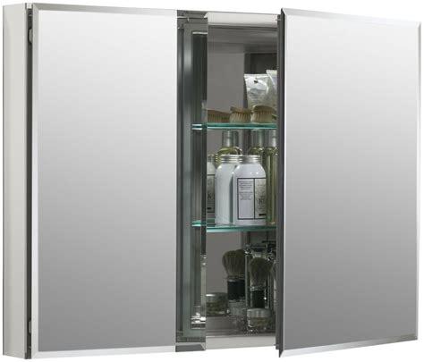 kohler kitchen cabinets kohler frameless medicine cabinets kohler k 99042 na n a 26 quot x 35 quot double door frameless