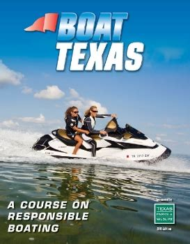 boat safety book texas parks and wildlife boat safety course