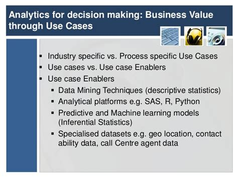 Decision Analytics Jenkins Mba by National Bank Presentation At The Chief Analytics