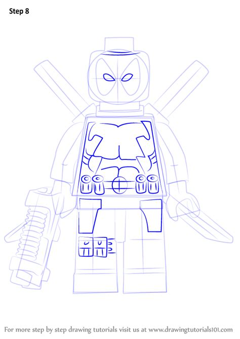 learn how to draw lego deadpool lego step by step