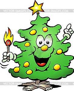 weihnachtsbaum mit streichholz vektor clip art