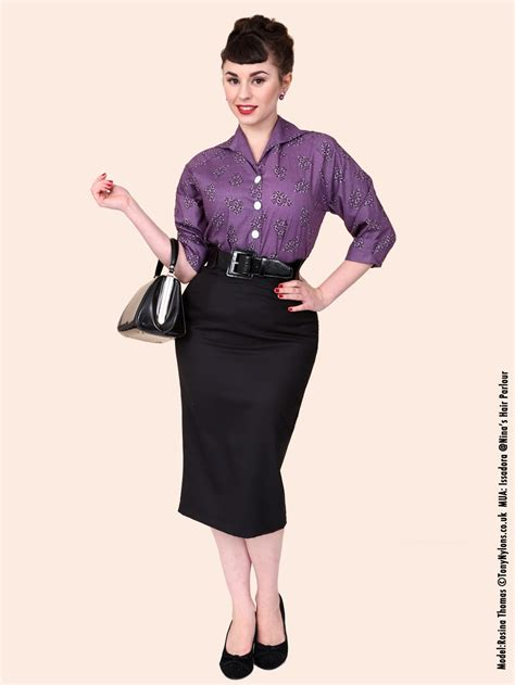 pencil skirt black drill 1950s dresses and clothing