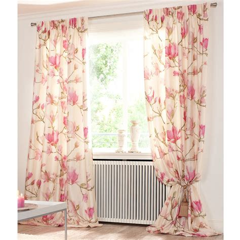 vorhang rosa vorhang magnolia creme rosa 1 vorhang kaufen
