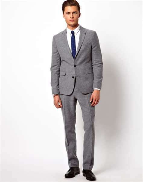 design of jacket suit asos slim fit suit jacket in geo design in gray for men lyst
