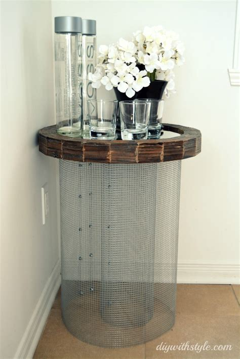 diy side table mesh mirror side table diy with style