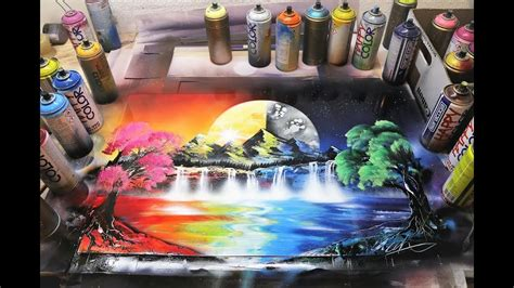 Day and Night   SPRAY PAINT ART by Skech   YouTube