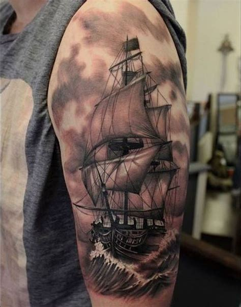 ship tattoo design best 25 pirate ship tattoos ideas on pirate