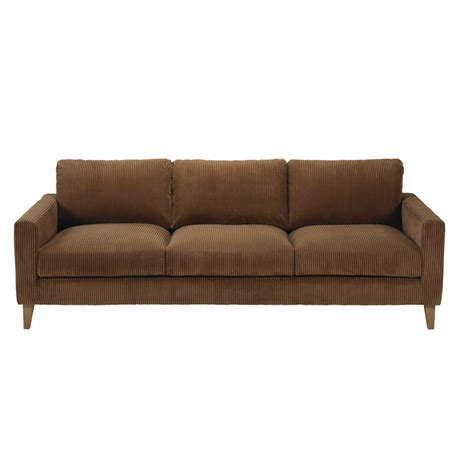 brown corduroy sofa brown corduroy 4 seater sofa holden maisons du monde