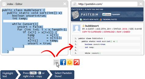 all pastebincom click to one click to your favorite app
