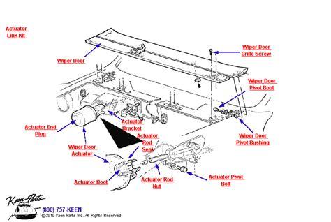 1953 2018 Corvette Wiper Door Amp Actuator Parts Parts