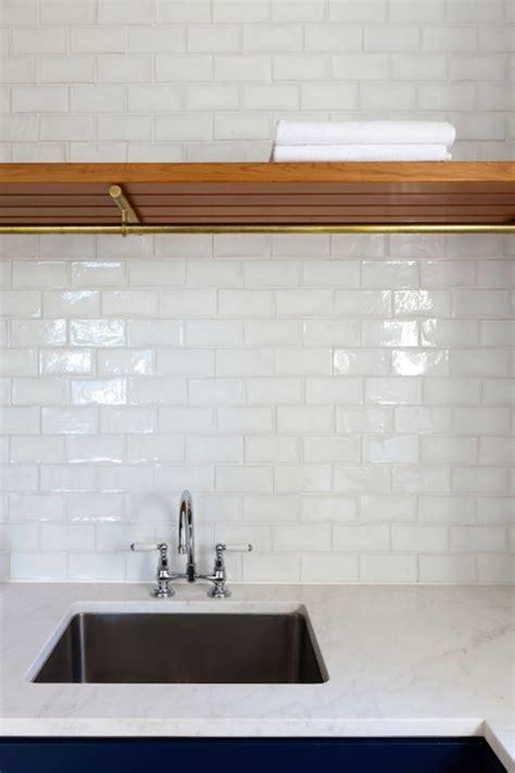 white glass tile backsplash contemporary kitchen