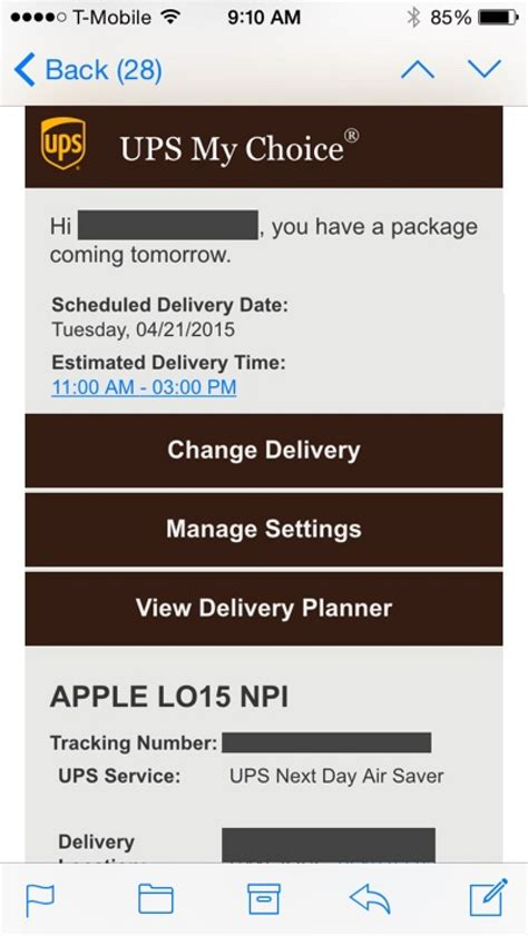 ups tracking numbers start trickling out to apple
