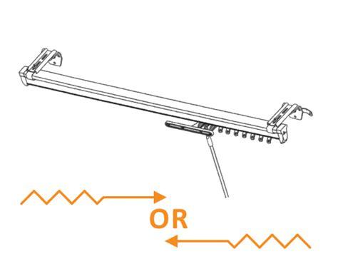 draw drapery rods graber heavy duty baton draw 66 120 inch traverse one way