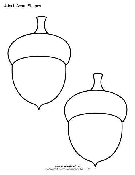 free acorn printable sheet free templates pinterest