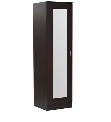 One Door Wardrobe With Mirror buy namito one door wardrobe with mirror in chocolate beech finish by mintwud modern