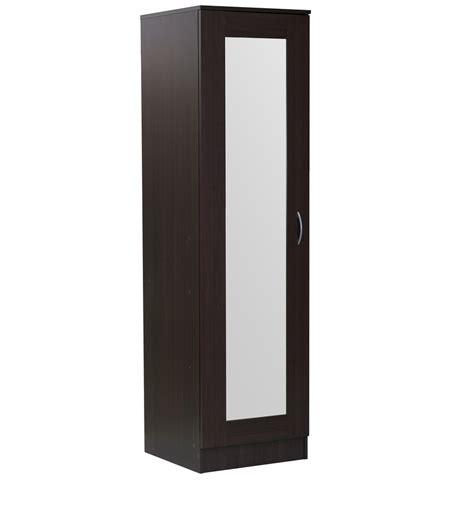 Single Door Wardrobe Designs by Buy Namito One Door Wardrobe With Mirror In Chocolate