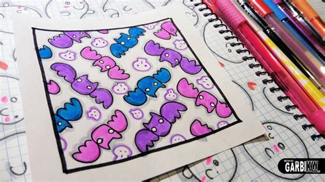 Cute Pattern Drawings   cute bats how to draw patterns for your doodles by garbi