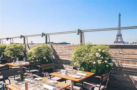terrasse toit paris restaurant maison blanche restaurant sur les toits de paris 8