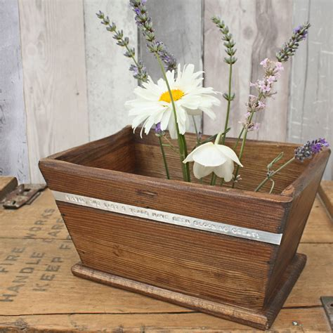 White Wooden Planter by Personalised Wooden Pot Planter By Warner S End