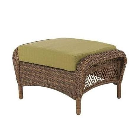 Martha Stewart Ottoman Martha Stewart Living Charlottetown Brown Ottoman With Green Cushion Home Depot Canada