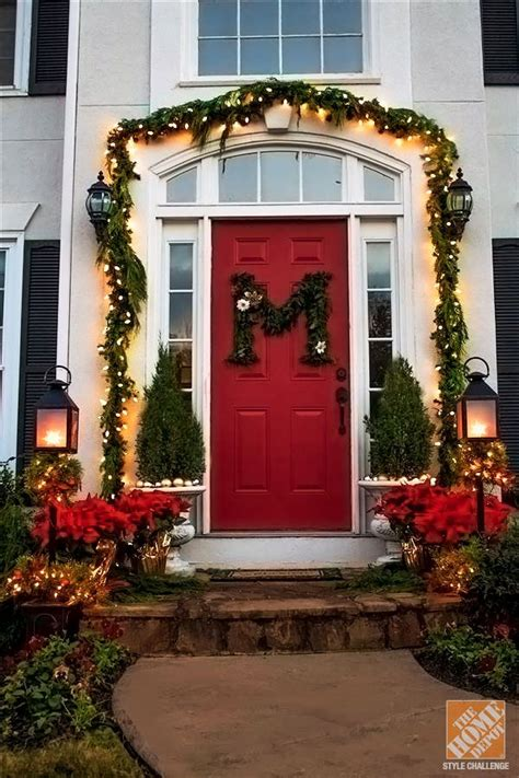 home depot decorating 42 christmas ideas for door porch decor four