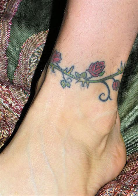 rose ankle tattoos ankle tattoos page 25