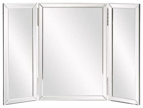 Tri Fold Bathroom Wall Mirror Tripoli Trifold Vanity Mirror Contemporary Mirrors By Fratantoni Lifestyles