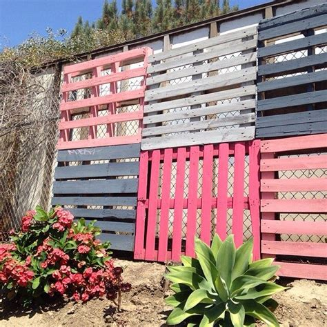 colorful way to cover up a chain linked fence shopruche home love garden pinterest ps