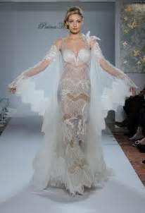 pnina tornai wedding gown with silk chiffon mermaid