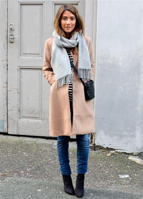 camel colored scarf camel coat grey scarf style fashion