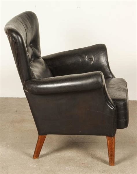 Black Leather Armchairs by Black Leather Armchair By Finn Juhl At 1stdibs